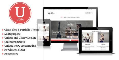 Udita - A Blog & Portfolio Wordpress Theme - WordpressThemeDB | WordpressThemeDatabase | Scoop.it