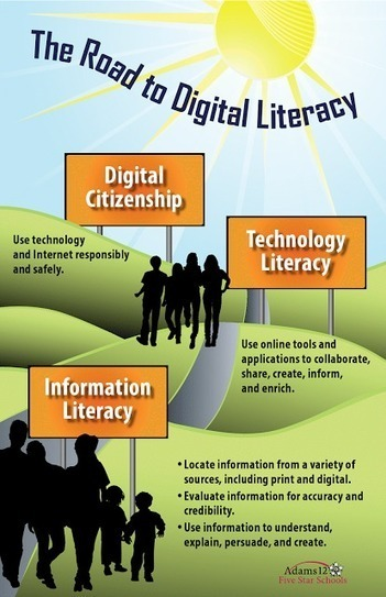 Infographic of the Week: The Road to Digital Literacy | 21st Century Technology Integration | Scoop.it