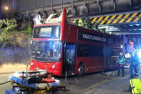 More than 20 injured after double-decker bus hits railway bridge | LibertyE Global Renaissance | Scoop.it