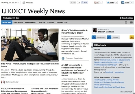 July 26 - IJEDICT Weekly News is out | Studying Teaching and Learning | Scoop.it