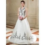 [SEK 1857.51] A-linjeformat Grimma Court släp Satäng Bröllopsklänning med Broderad (002011700)   Fashion   Scoop.it