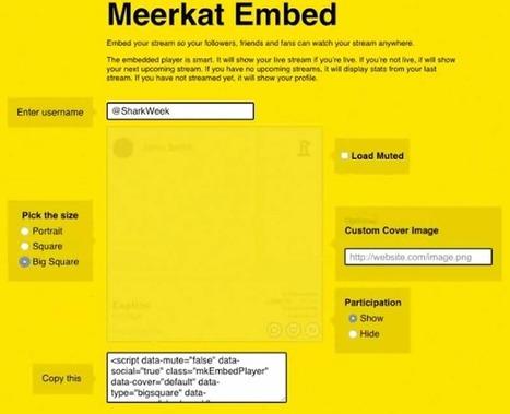 Meerkat permet l'intégration des vidéos dans votre site web - #Arobasenet.com   Référencement internet   Scoop.it