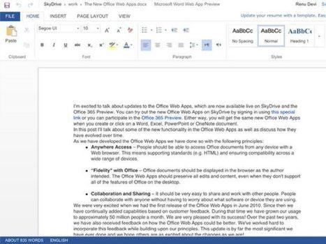 Office Web Apps : le tactile fait son entrée ! | Time to Learn | Scoop.it