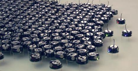 Ceci est un essaim de 1000 robots capables de coopérer | medianumériques | Scoop.it