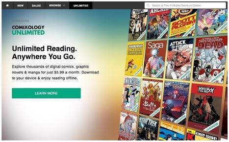 Unlimited : l'offre de comics illimitée par abonnement de ComiXology | Veille Hadopi | Scoop.it