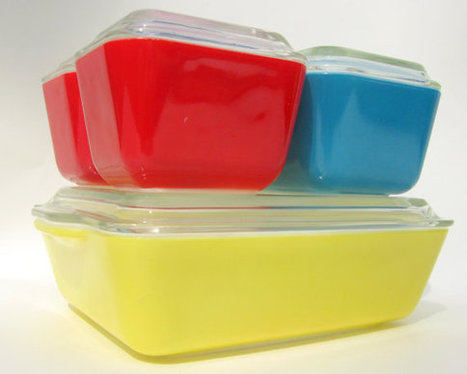 Vintage Pyrex Refrigerator Dishes Set 501 502 503 Primary Colors: Red, Blue & Yellow Rainbow Circus Colors | Vintage Living Today For A Future Tomorrow | Scoop.it