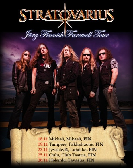 STRATOVARIUS: Tampere Concert Shot For DVD Release; Fan-Filmed Footage Available | Finland | Scoop.it