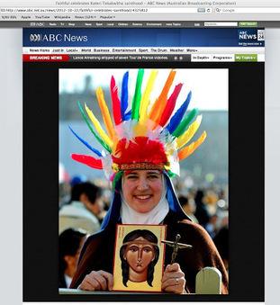 "Kateri Tekakwitha a ""squaw""?! Her father ""pagan""? Nun in toy headdress?! - American Indians in Children's Literature (AICL)   AboriginalLinks LiensAutochtones   Scoop.it"