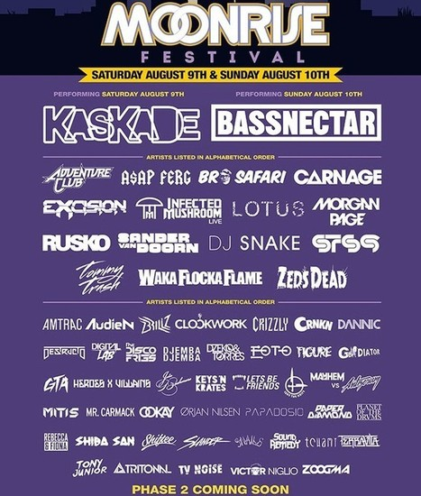 Moonrise Festival announces Phase 1 of 2014 lineup | DJing | Scoop.it