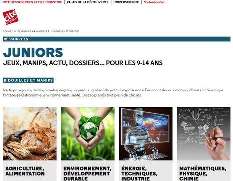 Bidouilles et manips - Juniors - Cité des sciences et de l'industrie -...   Actualités éducatives   Scoop.it