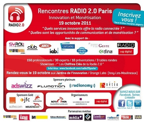 Rencontres RADIO 2.0 PARIS - 19 OCT : INSCRIVEZ-VOUS ! | Radio 2.0 (Fr & En) | Scoop.it
