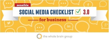 The official social media checklist (Infographic) | e-commerce & social media | Scoop.it
