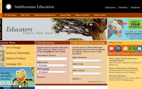 Smithsonian Education - Resources for Educators | Educacion, ecologia y TIC | Scoop.it