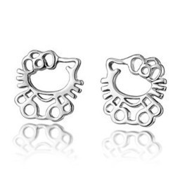 Aliexpress.com : Buy Fashion Stering Silver 925 Earring Hello Kitty Earring Stud Earring from Reliable hello kitty earring suppliers on  Miss Lyra | Hello Kitty | Scoop.it