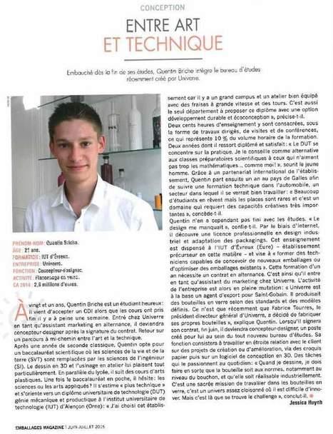 Parcours d'apprenti : Article d'emballage Magazine - Licence pro PACKAGING en Alternance IUT d'Evreux | PACKAGING | Scoop.it