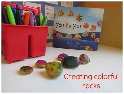 Creating colorful rocks in preschool | Teach Preschool | Teach Preschool | Scoop.it
