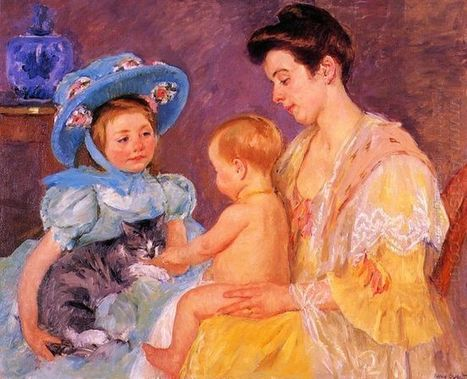 Oil painting reproduction: Mary Cassatt Children Playing With A Cat - Artisoo.com | arts&oil | Scoop.it