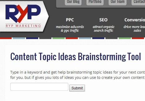 Content Topic Ideas Generator | RYP Marketing | Content Marketing and Curation for Small Business | Scoop.it