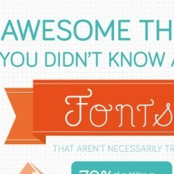 Awesome Things You Didn't Know About Fonts | Adobe Illustrator Tutorials | Scoop.it