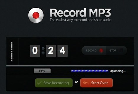 Record mp3: record live audio and get an mp3 | Educational technology | Scoop.it