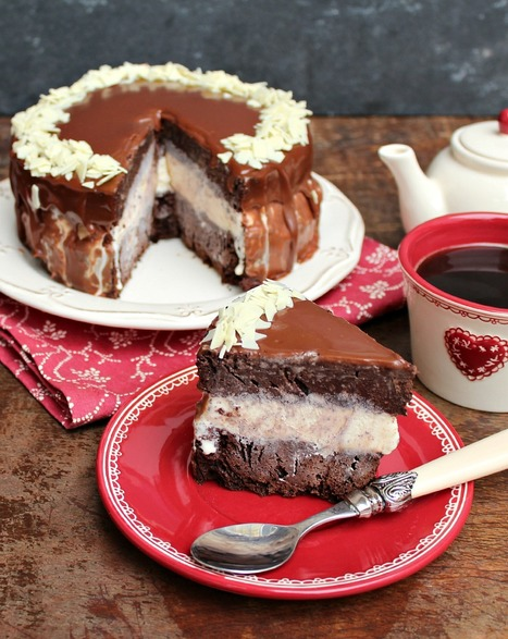 Recipe / Brownie a la Mode Layer Cake | The Man With The Golden Tongs ...