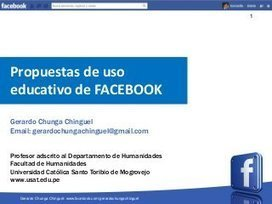 Propuestas de uso educativo de facebook | LabTI... | REDES SOCIALES - EDUCACIÓN | Scoop.it