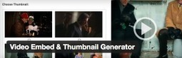Video Embed & Thumbnail Generator - Generate thumbnails, encode & embed videos Free Download | Wordpress | Scoop.it