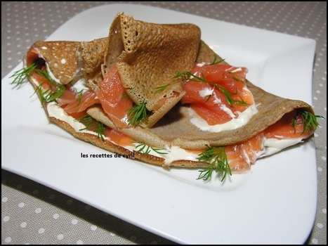 Galette de Sarrasin au Saumon Fumé | cuisine | Scoop.it