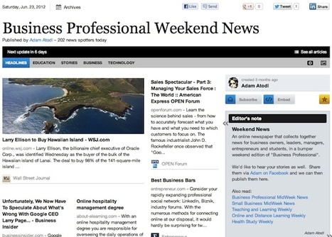 June 23 - Business Professional Weekend News | Business Futures | Scoop.it