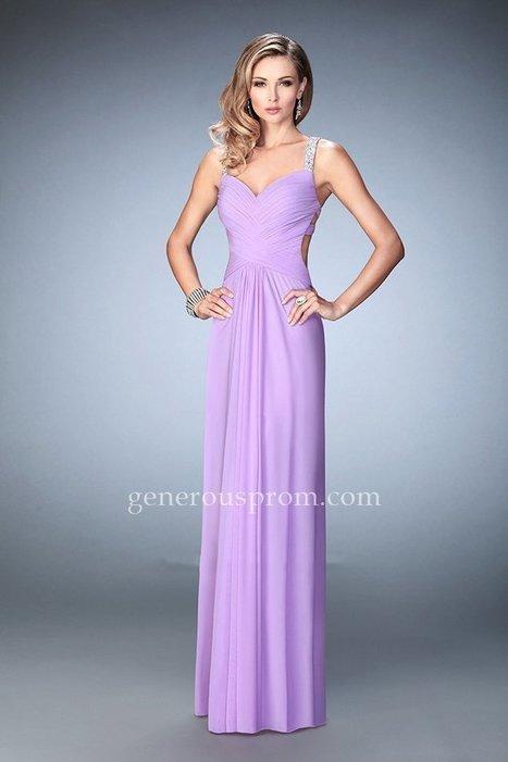 Wisteria Long Beaded Straps La Femme 22068 Prom Dresses - $169.00 : Prom Dresses | Generous Dresses | Prom & Homecoming Dresses | Scoop.it