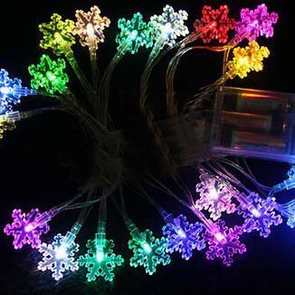 2.5M 20 Heads Sever Colors Snowflake LED String Light (Use battery) – LightSuperDeal.com | LED lights | Scoop.it