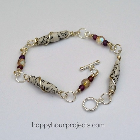 Wire Wrapped Paper Bead Bracelet - Happy Hour Projects   Making Wire Jewelry   Scoop.it