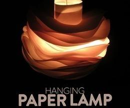 Hanging Paper Lamp   Open Source Hardware News   Scoop.it
