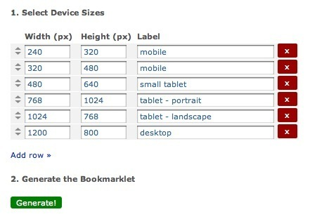 Test Your Mobile Designs Across Screen-Sizes: The Responsive Design Test Bookmarklet | Mobile Tools | Scoop.it