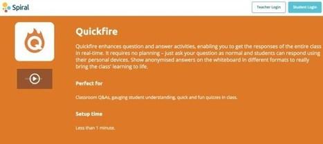Quickfire. Sondez vos apprenants en temps réel – Les Outils Tice | Web Community | Scoop.it