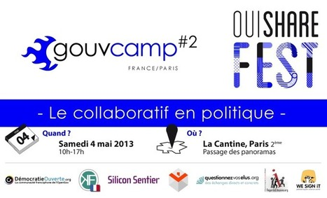Priorities and action plan for France 2.0 at GouvCamp / OuiShareFest 2013 | Lancelot PECQUET | actions de concertation citoyenne | Scoop.it