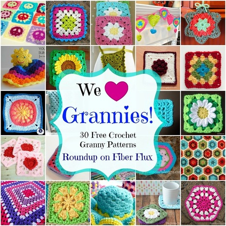 Fiber Flux...Adventures in Stitching: We Love Grannies! 30 Free Granny Patterns and Projects | baking | Scoop.it