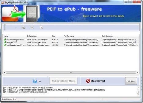 Free PDF to ePub File Converter: PageFlip PDF to ePub || Free Software | Aprendiendo a Distancia | Scoop.it