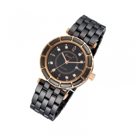 DASIND Ceramic Watch Black Dial With Zircon - Tungstenjewellry.com | I Love Tungstenjewelry | Scoop.it