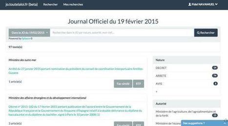 Toutelaloi. Service de veille et recherche sur le Journal Officiel | Les outils de la veille | Veille informationnelle, curation,intelligence économique | Scoop.it