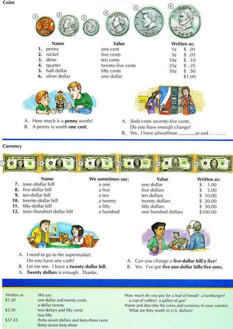 "American money English lesson | ""English Language and Literature"" | Scoop.it"