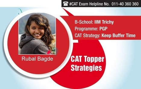 Crack CAT 2015 by Keeping Buffer Time, says CAT Topper Rubal Bagde of IIM Trichy   Education:Education and Career is life   Scoop.it