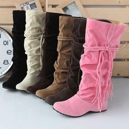Pretty Pure Color Flat Boots | shoespie | Scoop.it