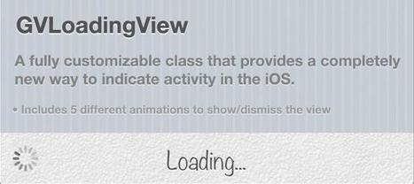 GVLoadingView | Objective-C | CocoaTouch | Xcode | iPhone | ChupaMobile | mobile source code | Scoop.it