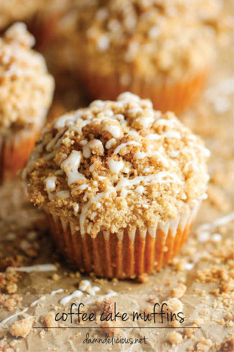 Coffee Cake Muffins - Damn Delicious | French Culture - Cuisine, Wine and Dessert | Scoop.it