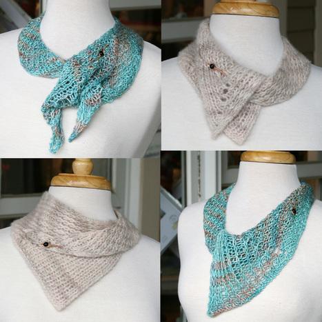 Origami Scarf pattern by Kam Baker | Yarn, yarn, yarn! | Scoop.it