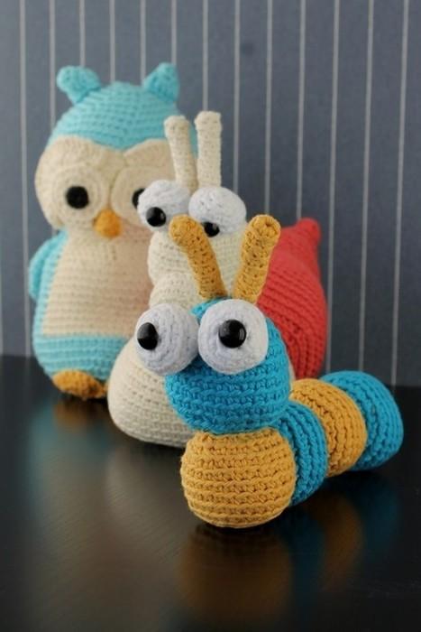 En ugle, en snegl og en larve | Crochet | Scoop.it
