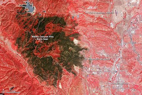 NASA Photo of the Scar Left Behind by Colorado's Waldo Canyon Fire | pixels and pictures | Scoop.it