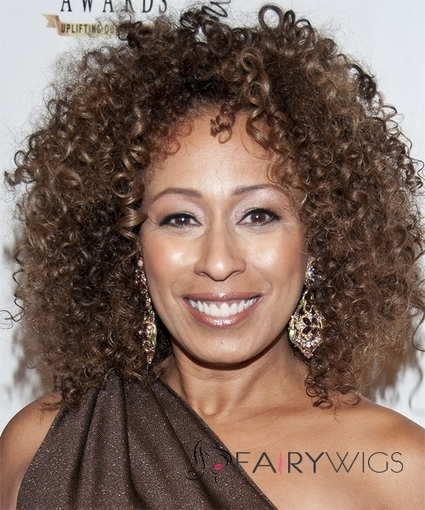 Personalized Short Curly Brown African American Lace Wigs for Women : fairywigs.com | African American Wigs | Scoop.it