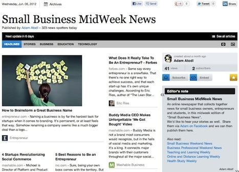 June 6 - Small Business MidWeek News | Business Futures | Scoop.it
